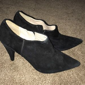 Zara black suede booties